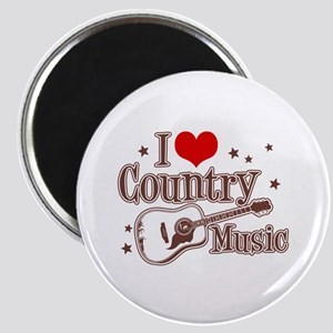 I Love Country Music Magnet