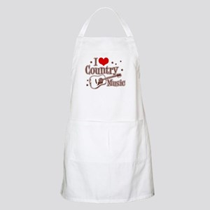 I Love Country Music BBQ Apron