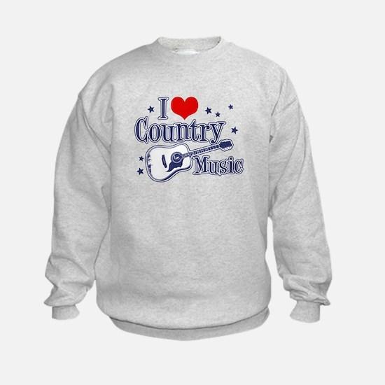 I Love Country Music Sweatshirt