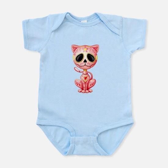 Pink Zombie Sugar Skull Kitten Body Suit