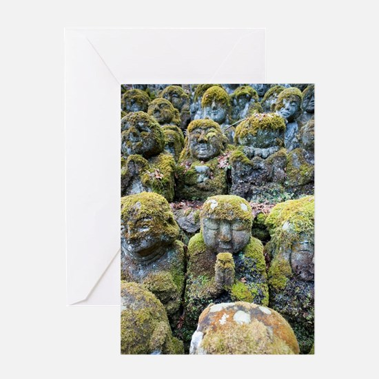 Buddhist temple statues Greeting Card