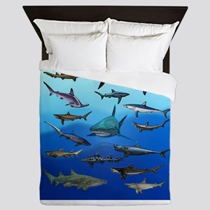 Shark Gathering Queen Duvet
