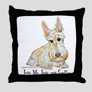 Wheaten Scottish Terrier Throw Pillow