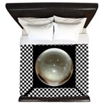 Metal ball checkered King Duvet