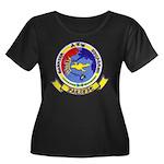 AEWBARRO Women's Plus Size Scoop Neck Dark T-Shirt