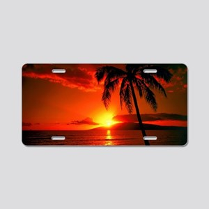 Sunset Aluminum License Plate