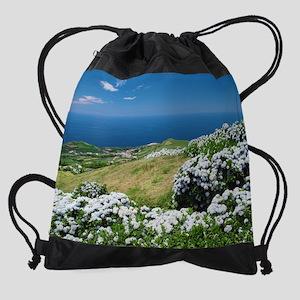 Hydrangeas everywhere Drawstring Bag