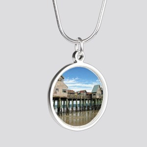 Old Orchard Beach  Silver Round Necklace