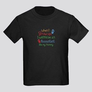 Accountant Like Mommy Kids Dark T-Shirt