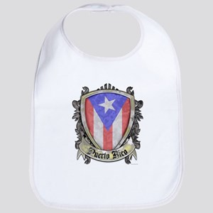Puerto Rico Flag - Shield Crest Bib