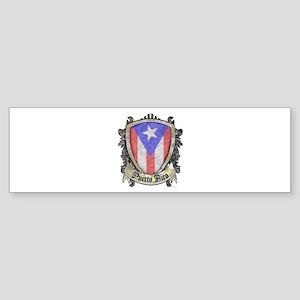 Puerto Rico Flag - Shield Crest Sticker (Bumper)