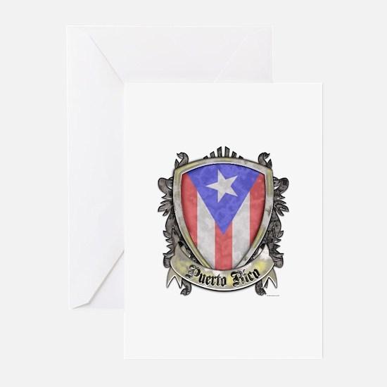 Puerto Rico Flag - Shiel Greeting Cards (Pk of 10)