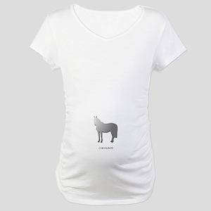Horse Design by Chevalinite Maternity T-Shirt