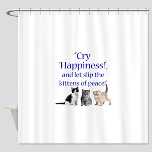 Kittens Of Peace Shower Curtain