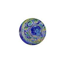 Blue Wheel Mini Button (100 pack)