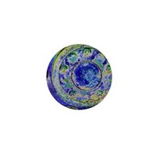 Blue Wheel Mini Button