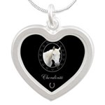 Horse Design by Chevalinite Silver Heart Necklace