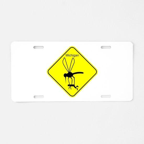Mich State Bird Mosquito Aluminum License Plate