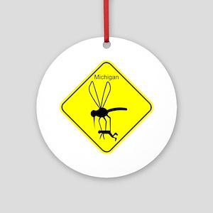 Mich State Bird Mosquito Ornament (Round)