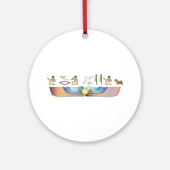 Sealyham Hieroglyphs Ornament (Round)