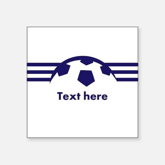 Custom Soccer Design Sticker