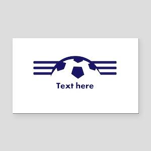 Custom Soccer Design Rectangle Car Magnet