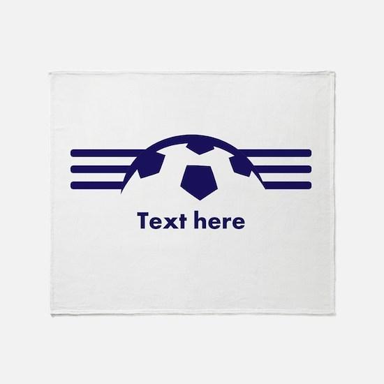Custom Soccer Design Throw Blanket