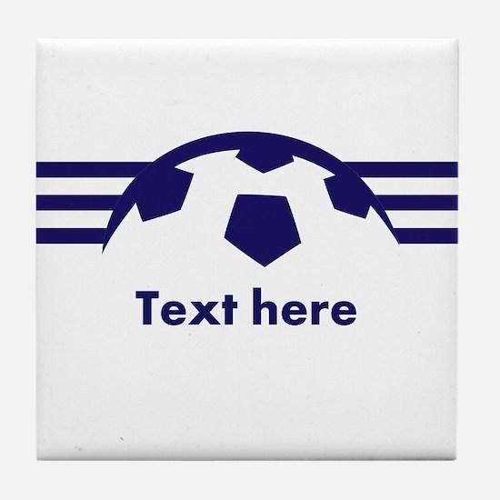 Custom Soccer Design Tile Coaster
