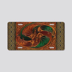 Harvest Moons Celtic Dragons Aluminum License Plat