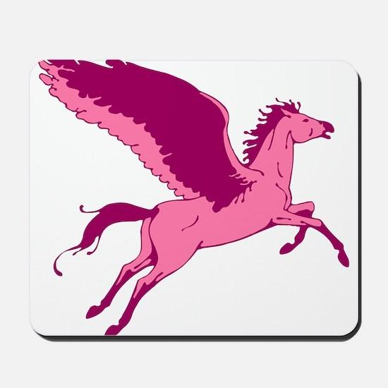 Cute Pink Pegasus Mousepad