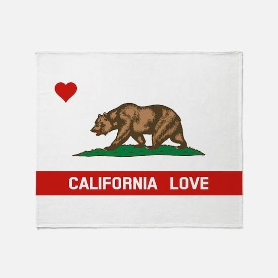 Cute California republic flag Throw Blanket