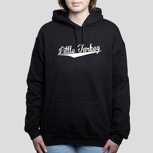 Little Turkey, Retro, Women's Hooded Sweatshirt