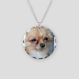 i love dog Necklace Circle Charm