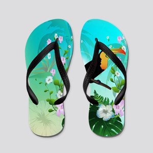 Cute Toucan Flip Flops