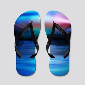 Northern Lights Flip Flops