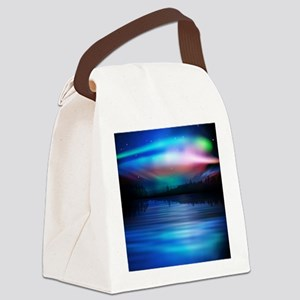 Northern Lights Canvas Lunch Bag