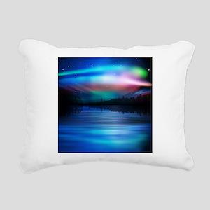 Northern Lights Rectangular Canvas Pillow