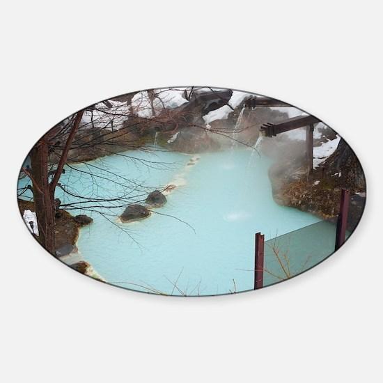 Shirahone Onsen Spa Sticker (Oval)