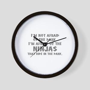 I'm Not Afraid Of The Dark Wall Clock