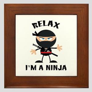 Relax I'm A Ninja Framed Tile
