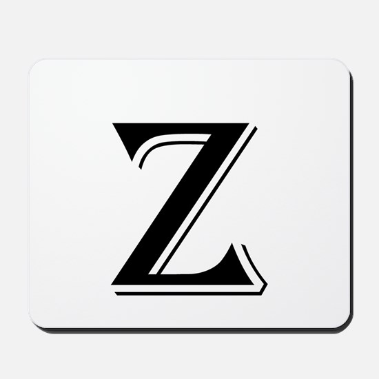 Fancy Letter Z Mousepad
