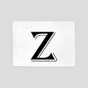 Fancy Letter Z 5'x7'Area Rug