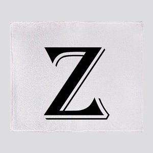 Fancy Letter Z Throw Blanket