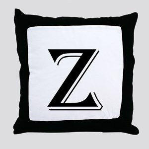 Fancy Letter Z Throw Pillow