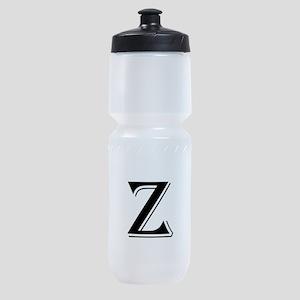 Fancy Letter Z Sports Bottle