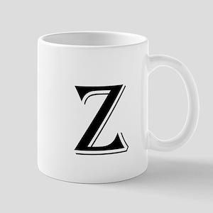 Fancy Letter Z Mugs