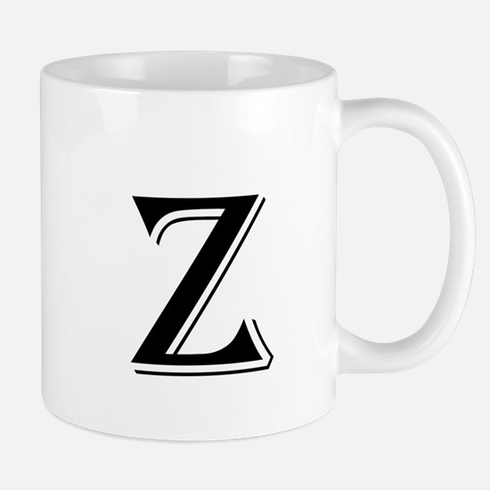Fancy Letter Z Mugs