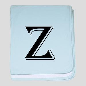 Fancy Letter Z baby blanket
