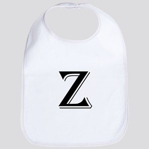 Fancy Letter Z Bib