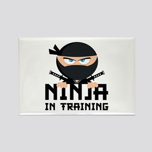 Ninja In Training Rectangle Magnet